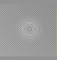 sonar waves isolated vector image vector image