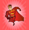 super hero fireman cartoon retro style vector image vector image