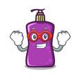 super hero shampo character cartoon style vector image