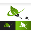 Swoosh Green Leaf Logo Icon vector image vector image