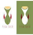 taco fish mexican food design template vector image vector image