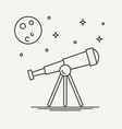 thin line design of telescope vector image