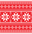 Traditional folk red and white embroidery pattern vector image vector image