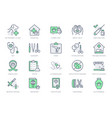 veterinary line icons include vector image