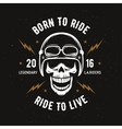 Vintage motorcycle t-shirt graphics Born to ride vector image vector image