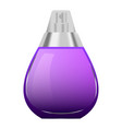 violet perfume bottle mockup realistic style vector image vector image