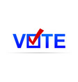 vote sign with check mark vector image