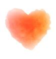 watercolor orange hand drawn paper texture heart vector image vector image