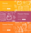 web banners with hand drawn vector image vector image