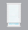 white window blinds isolated vector image