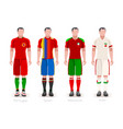 world cup group b jerseys kit vector image vector image