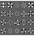 set of abstract geometric elements and symbols vector image