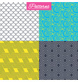 floral ornament roof tiles and hex textures vector image