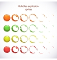 Funny cartoon colorful bubbles burst vector image