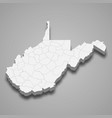 3d map state united states vector image vector image