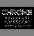 3d silver shiny text effect design set vector image