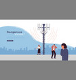 5g tower health risk danger template concept vector image