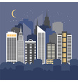 a city at night vector image