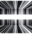 Abstract black and white warped stripes background vector image vector image
