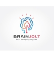 Abstract brain logo icon concept Logotype template vector image vector image
