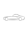 Abstract sport car profile silhouette vector image vector image