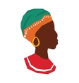african woman icon descendant design