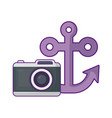 anchor marine with camera photography vector image vector image