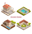 ancient rome isometric set vector image vector image