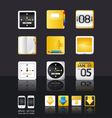 apps icon set tablet mobile phone vector image