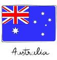 Australia doodle flag vector image vector image