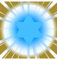 background with star of david vector image vector image