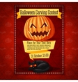 Banner for carving contest or invitation to the vector image vector image