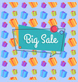big sale banner seamless pattern shopping bags vector image vector image