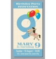 Birthday party invitation card with cute horse vector image vector image
