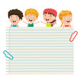 blank note papers vector image vector image
