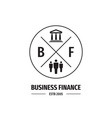 business finance concept logo creative vector image