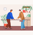 business partners teamwork in office meeting vector image vector image