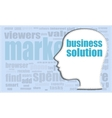 business solution business solution head vector image