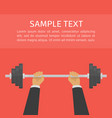 businessman lifted barbel vector image vector image