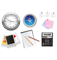 calculator and office supplies vector image vector image