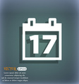 Calendar Date or event reminder icon symbol on the vector image vector image