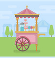 candy cart flat vector image vector image