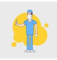 character of surgeon in medical uniform vector image vector image