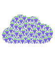 cloud figure of grapes icons vector image