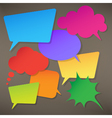 Colorful speech bubbles round and square vector image vector image