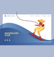 concept landing page template with woman vector image