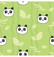 Cute pandas seamless pattern vector image