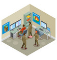 earth research isometric composition vector image
