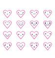 emoticons doodle hearts 2 vector image