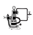 factory water heater vector image vector image